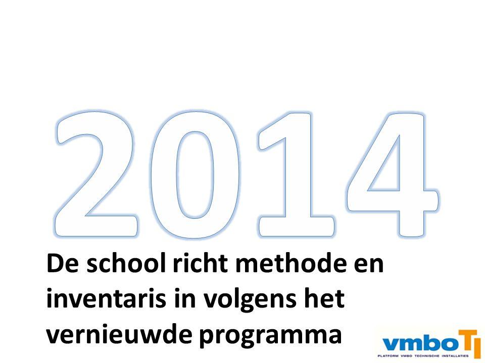 2014 De school richt methode en inventaris in volgens het
