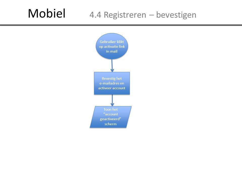 Mobiel 4.4 Registreren – bevestigen