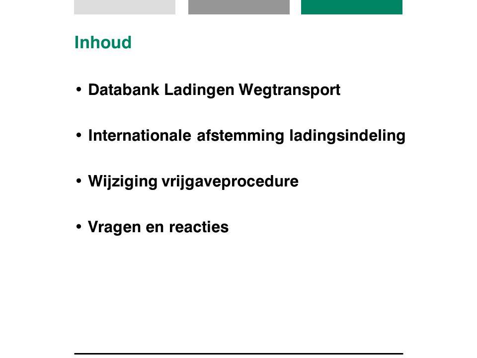 Inhoud Databank Ladingen Wegtransport