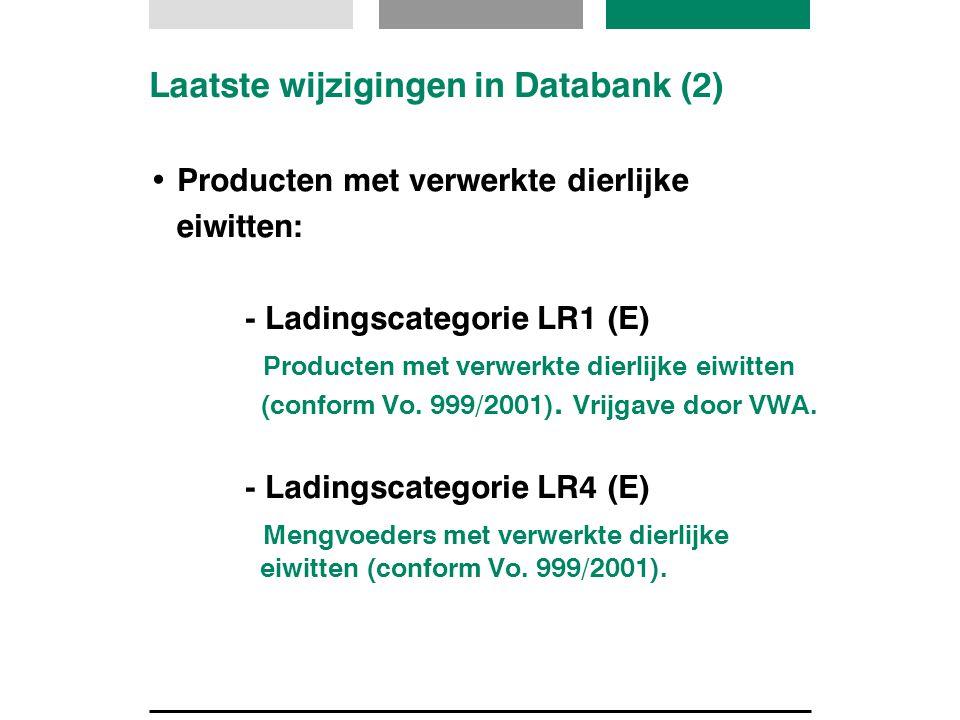 Laatste wijzigingen in Databank (2)