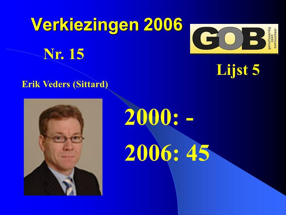 2000: - 2006: 45 Verkiezingen 2006 Nr. 15 Lijst 5