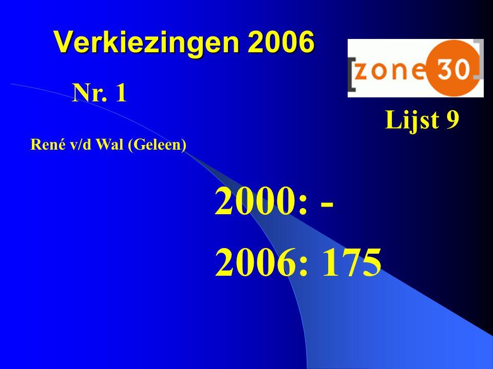 2000: - 2006: 175 Verkiezingen 2006 Nr. 1 Lijst 9