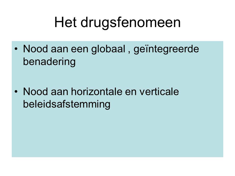 Het drugsfenomeen Nood aan een globaal , geïntegreerde benadering