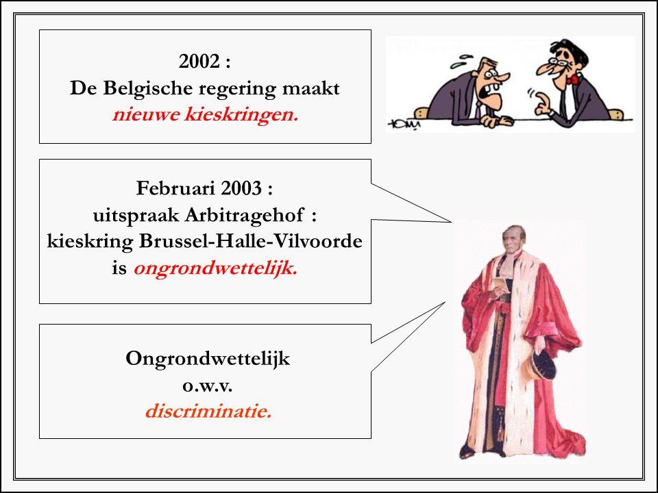 De Belgische regering maakt nieuwe kieskringen.