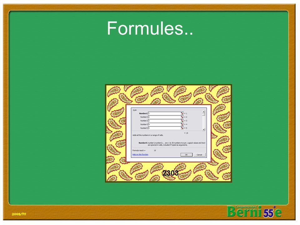 Formules.. 2303