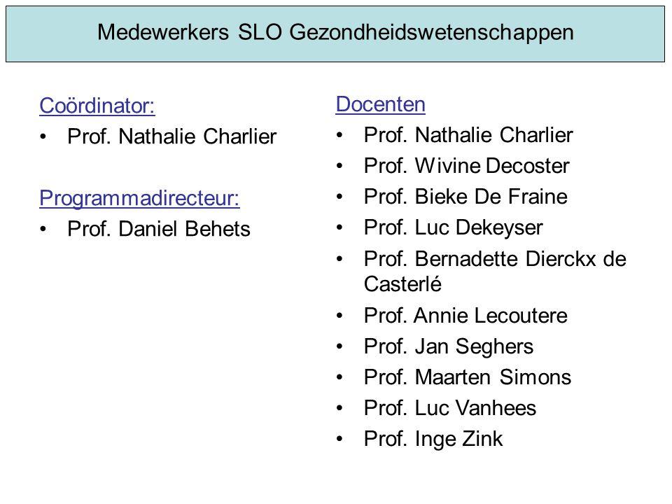 Medewerkers SLO Gezondheidswetenschappen