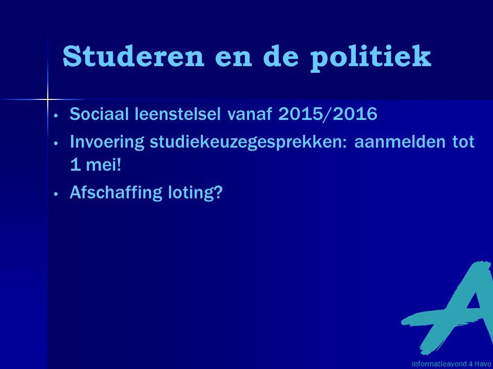 Studeren en de politiek