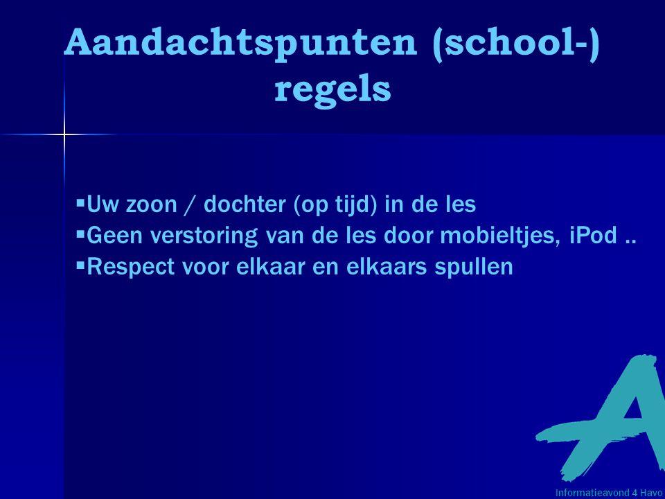 Aandachtspunten (school-)
