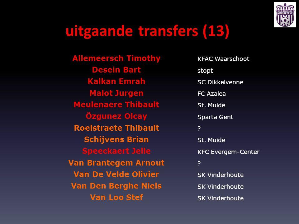 uitgaande transfers (13)