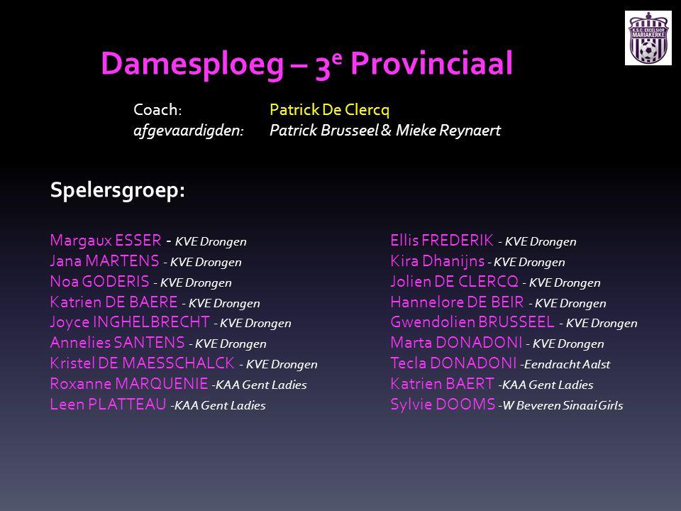 Damesploeg – 3e Provinciaal