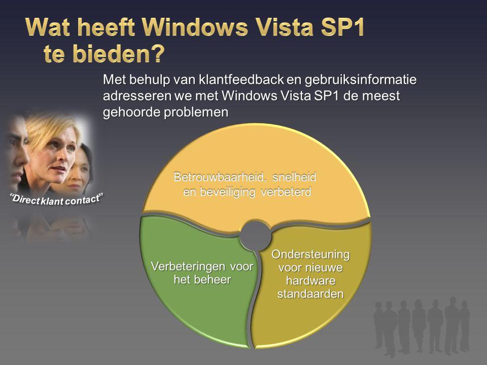 Wat heeft Windows Vista SP1 te bieden