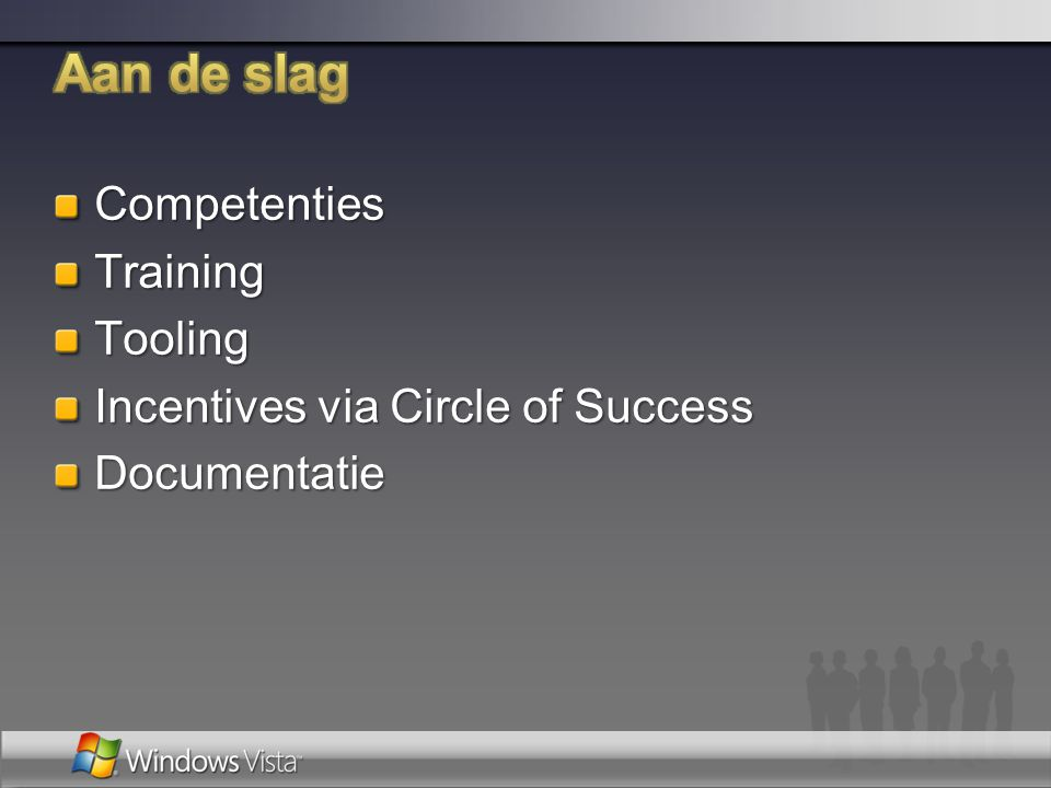 Aan de slag Competenties Training Tooling