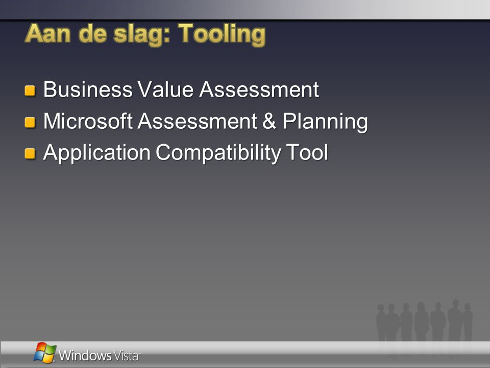 Aan de slag: Tooling Business Value Assessment