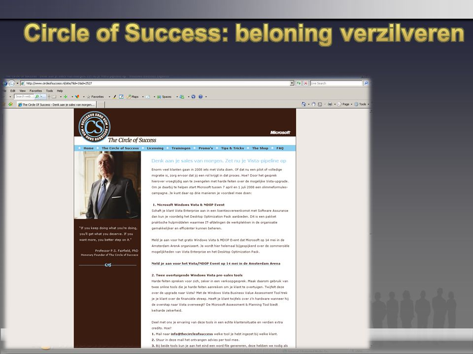 Circle of Success: beloning verzilveren