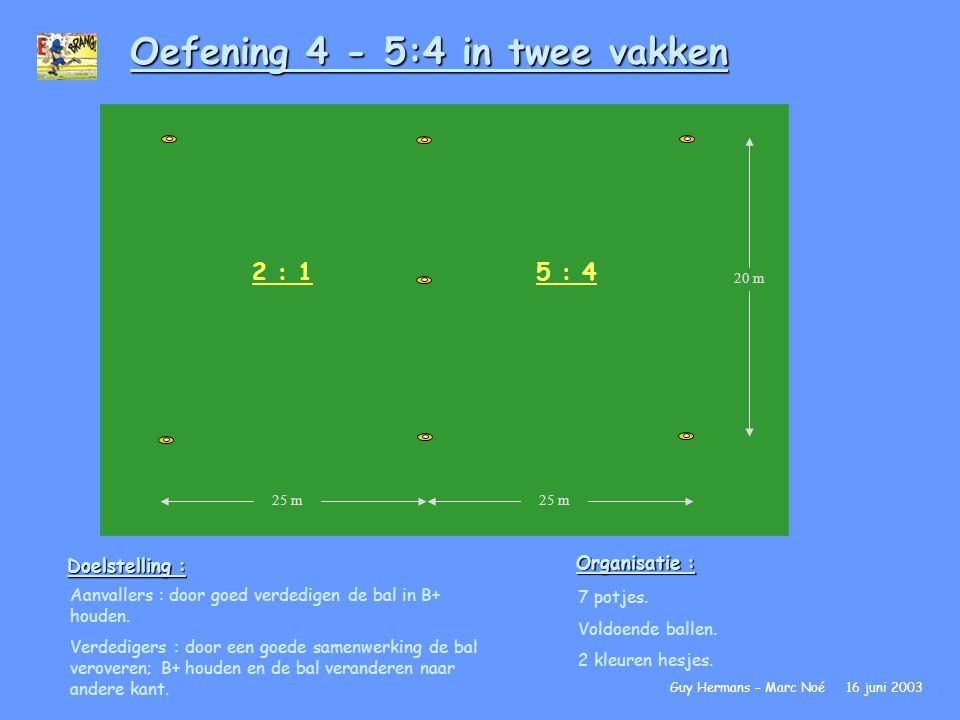 Oefening 4 - 5:4 in twee vakken