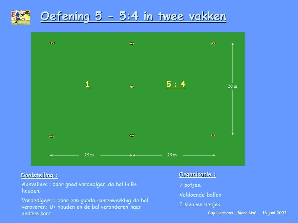 Oefening 5 - 5:4 in twee vakken