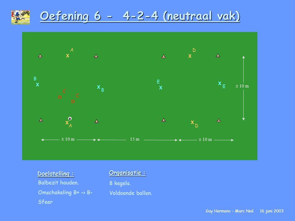 Oefening 6 - 4-2-4 (neutraal vak)