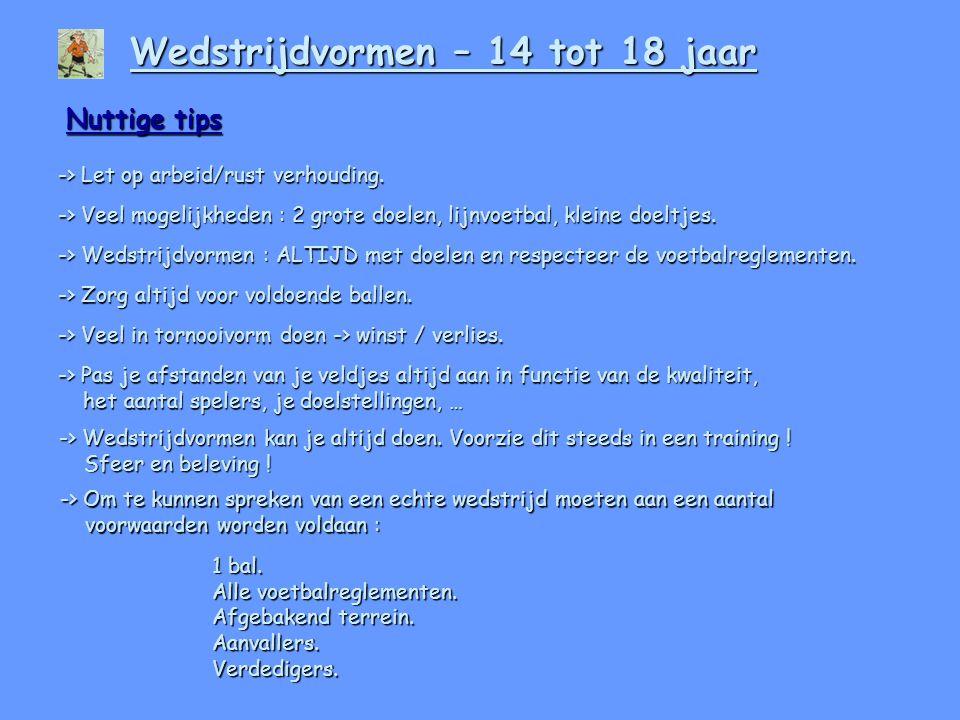 Wedstrijdvormen – 14 tot 18 jaar