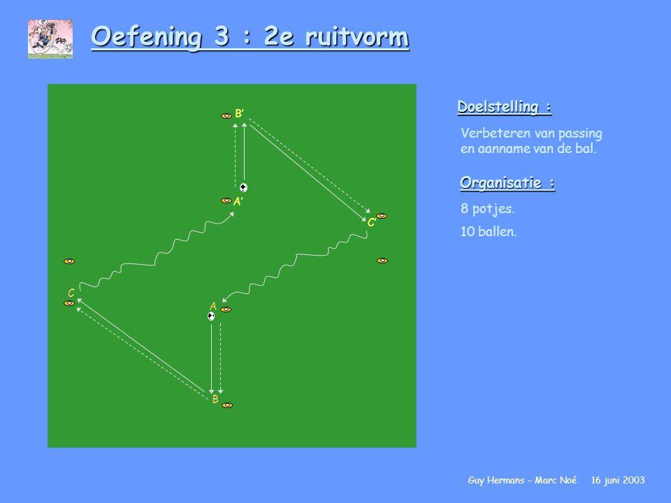 Oefening 3 : 2e ruitvorm Doelstelling : Organisatie :