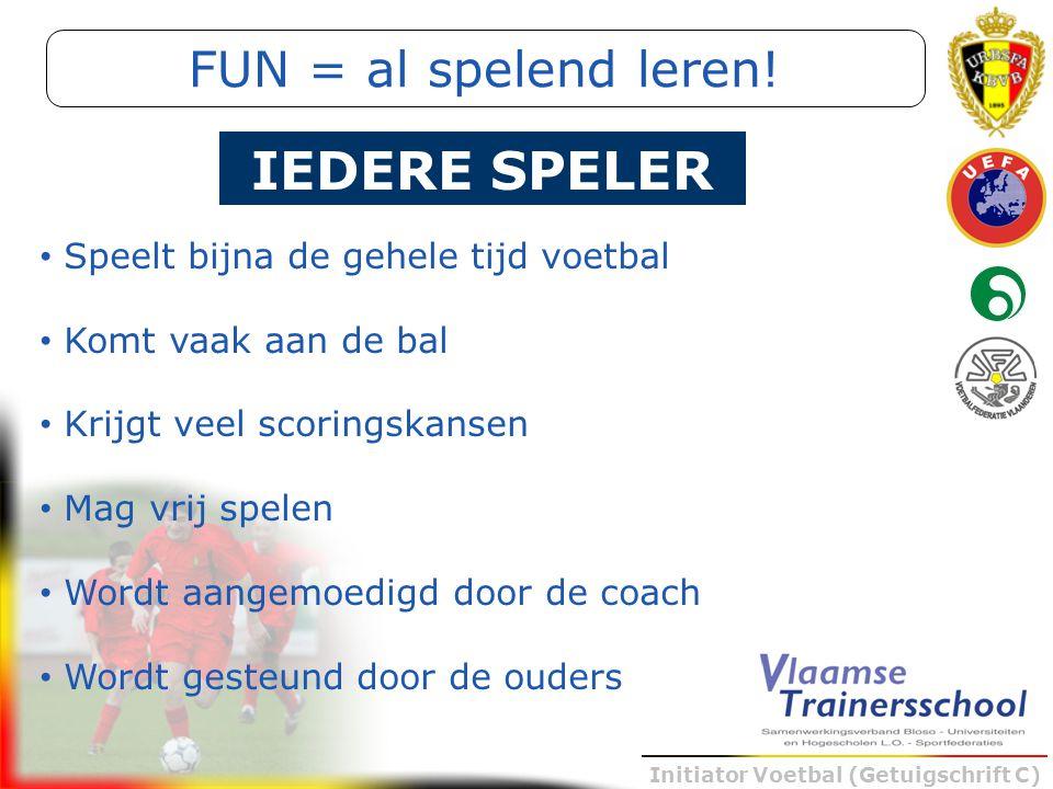 IEDERE SPELER FUN = al spelend leren!