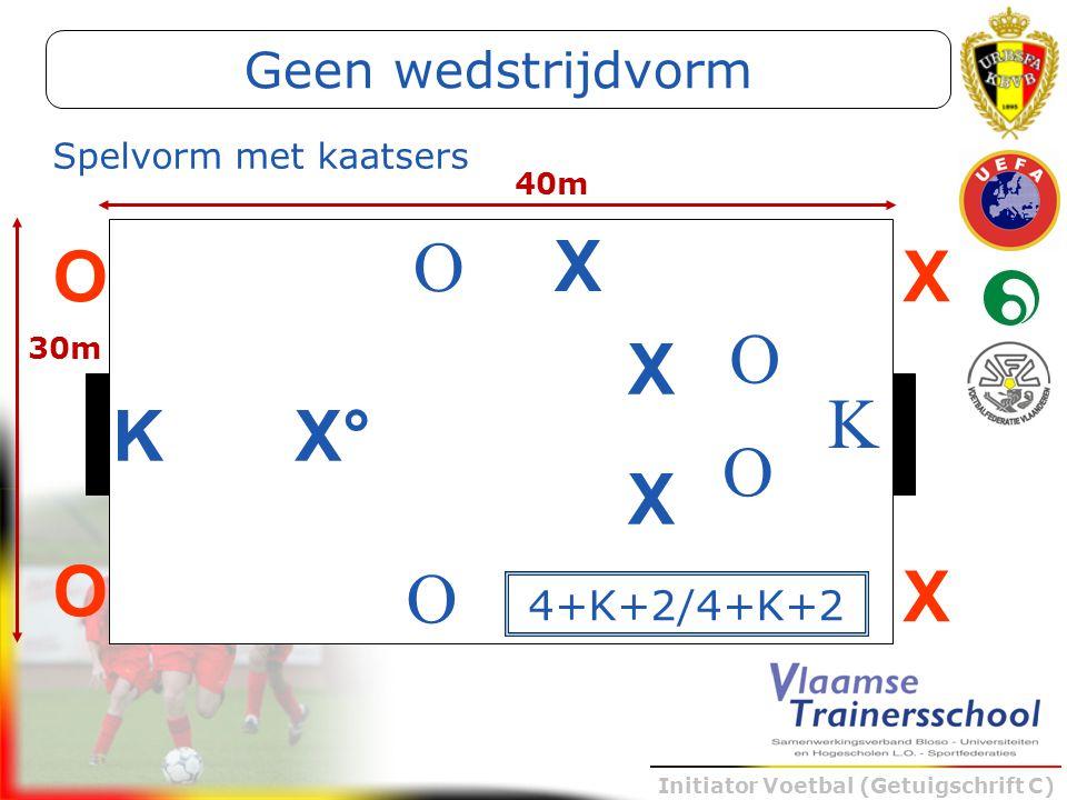 O X X O O X K K X° O X O Geen wedstrijdvorm 4+K+2/4+K+2