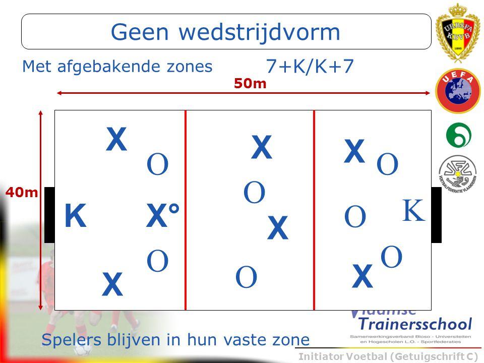X X X O O O K K X° O X O O O X X Geen wedstrijdvorm 7+K/K+7