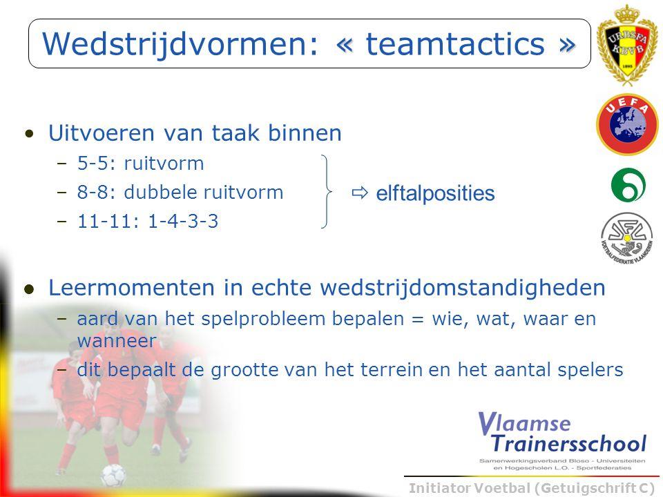 Wedstrijdvormen: « teamtactics »