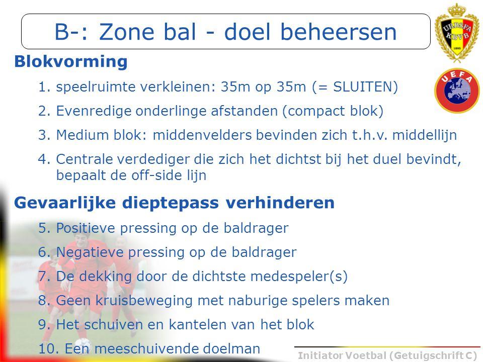 B-: Zone bal - doel beheersen