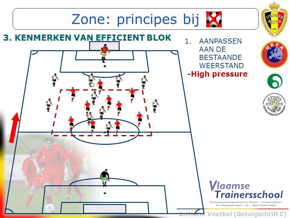 Zone: principes bij 3. KENMERKEN VAN EFFICIENT BLOK -High pressure