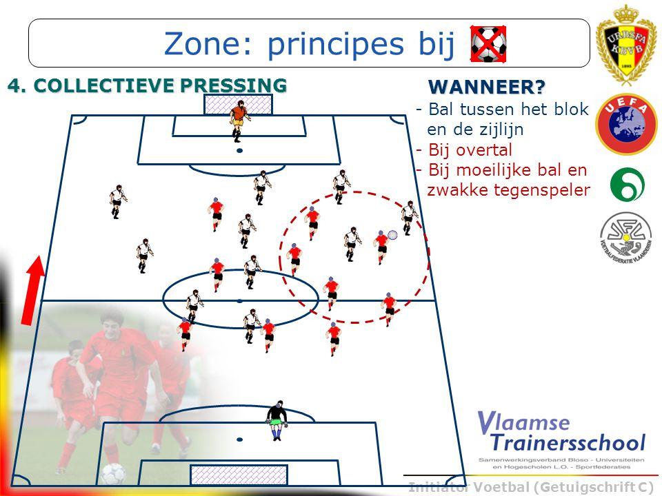 Zone: principes bij 4. COLLECTIEVE PRESSING WANNEER