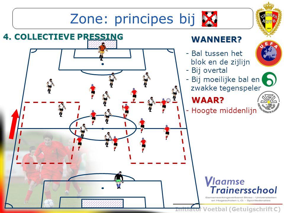 Zone: principes bij 4. COLLECTIEVE PRESSING WANNEER WAAR