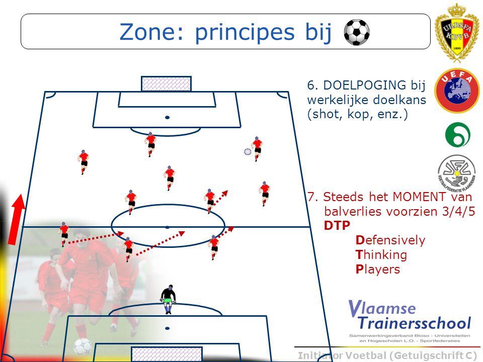 Zone: principes bij 6. DOELPOGING bij werkelijke doelkans