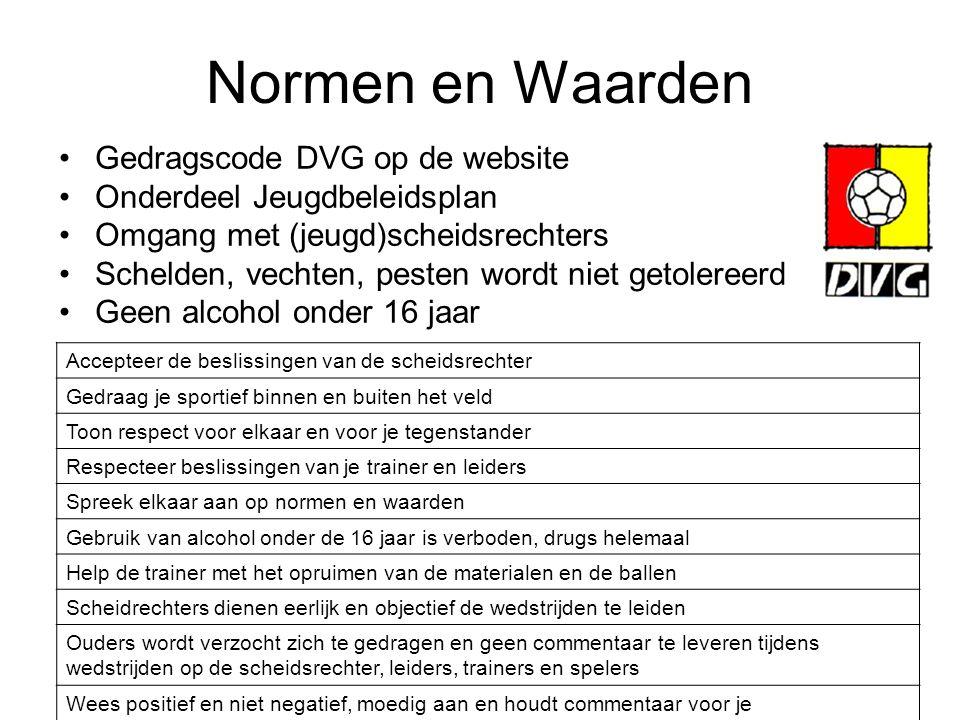 Normen en Waarden Gedragscode DVG op de website