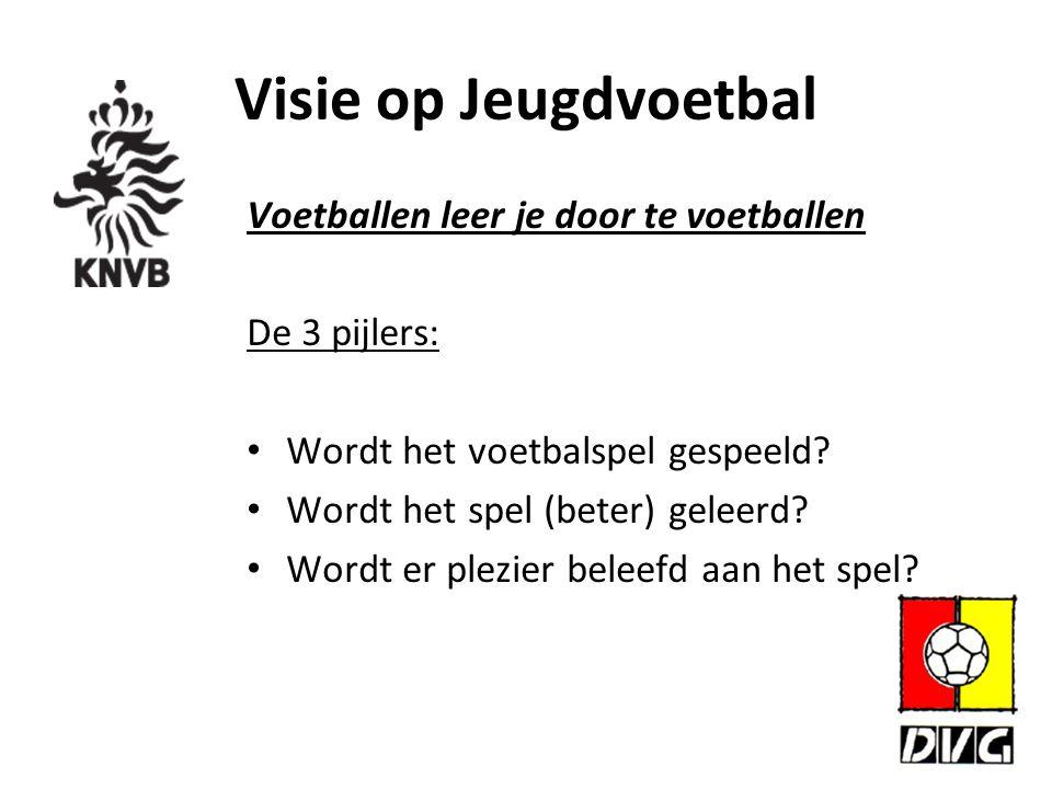 Visie op Jeugdvoetbal Voetballen leer je door te voetballen