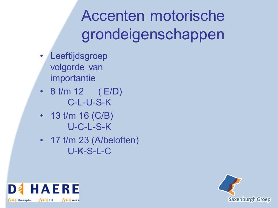 Accenten motorische grondeigenschappen