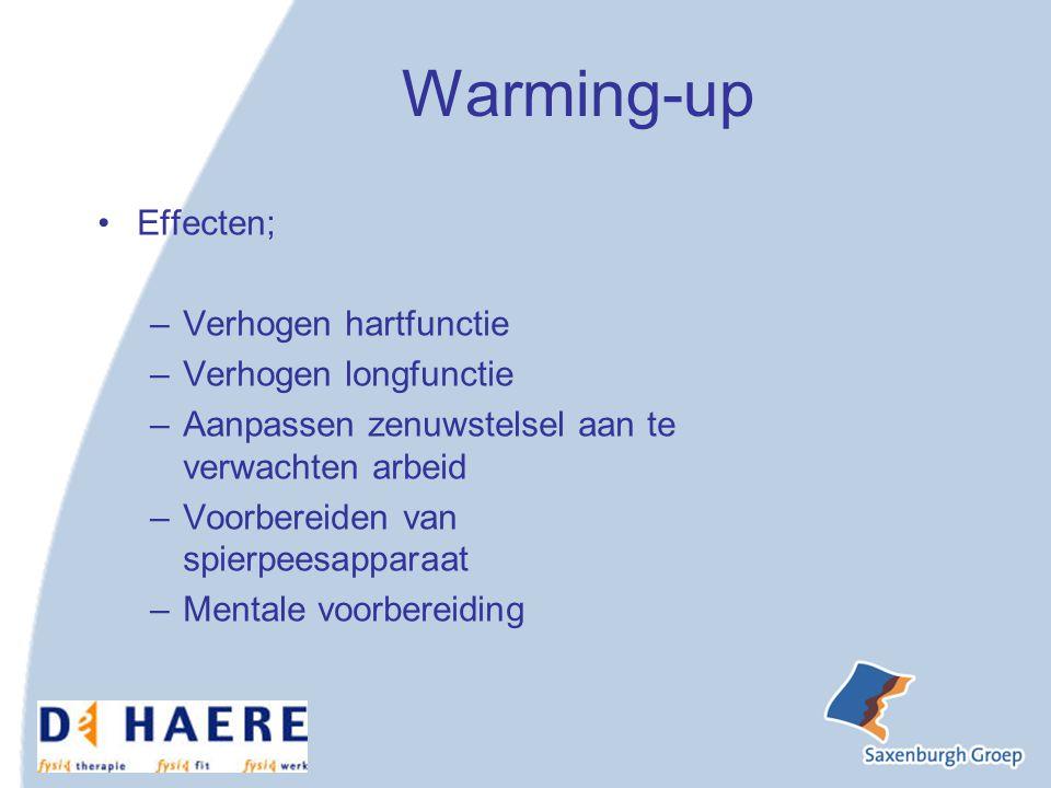 Warming-up Effecten; Verhogen hartfunctie Verhogen longfunctie