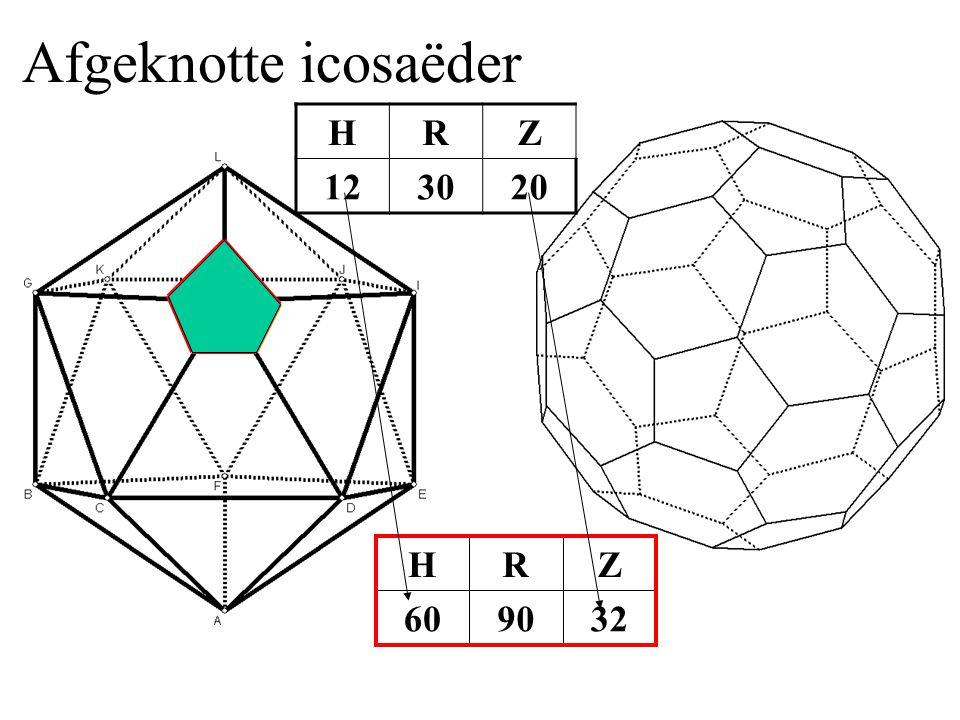 Afgeknotte icosaëder H R Z 12 30 20 32 90 60 Z R H