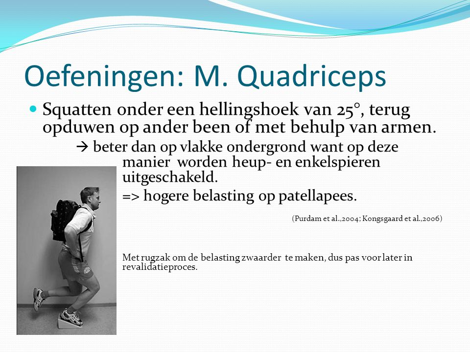 Oefeningen: M. Quadriceps