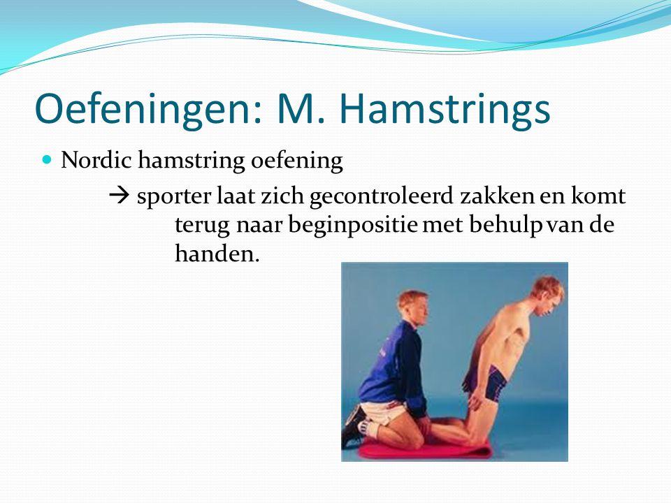 Oefeningen: M. Hamstrings