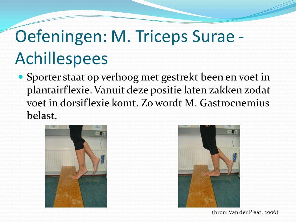Oefeningen: M. Triceps Surae - Achillespees