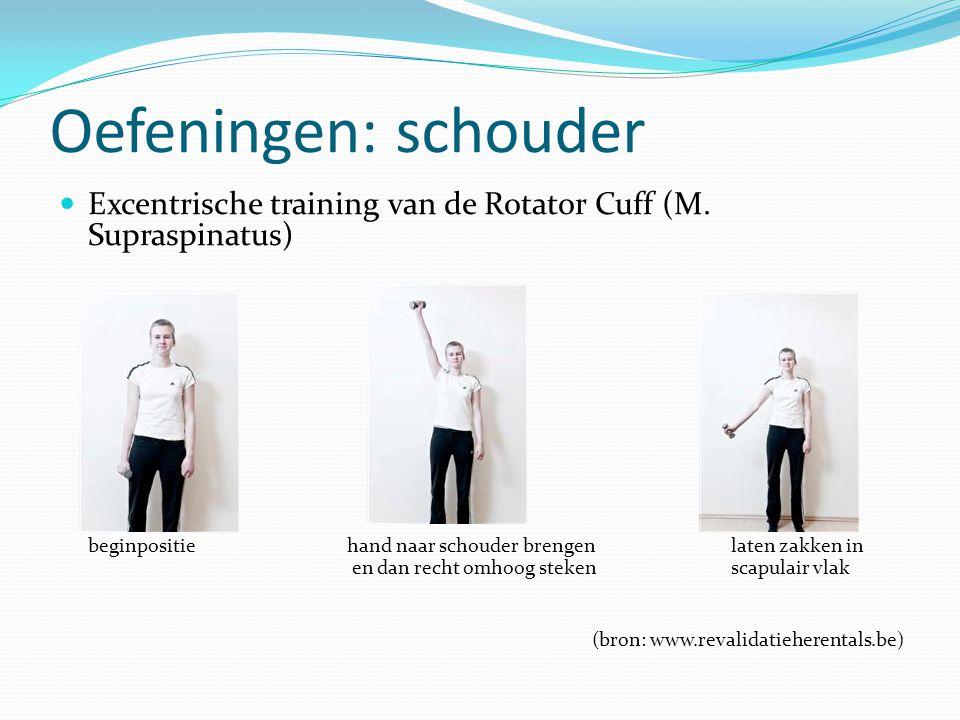 Oefeningen: schouder Excentrische training van de Rotator Cuff (M. Supraspinatus)