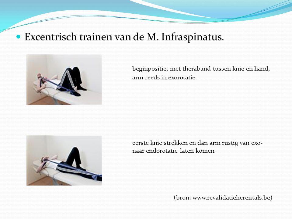Excentrisch trainen van de M. Infraspinatus.