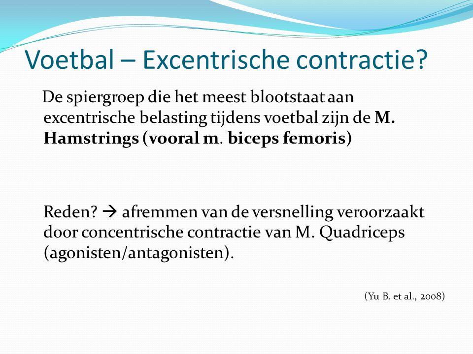 Voetbal – Excentrische contractie