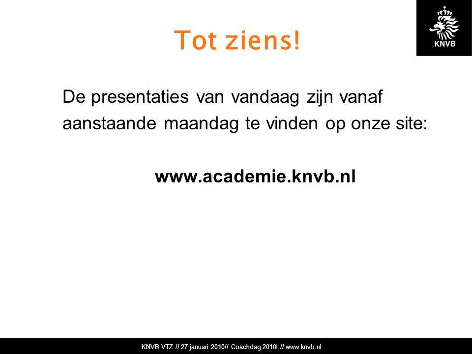 KNVB VTZ // 27 januari 2010// Coachdag 2010l // www.knvb.nl