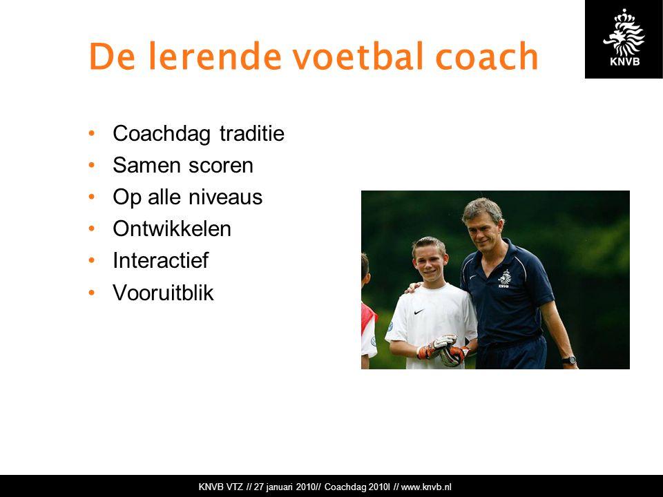De lerende voetbal coach