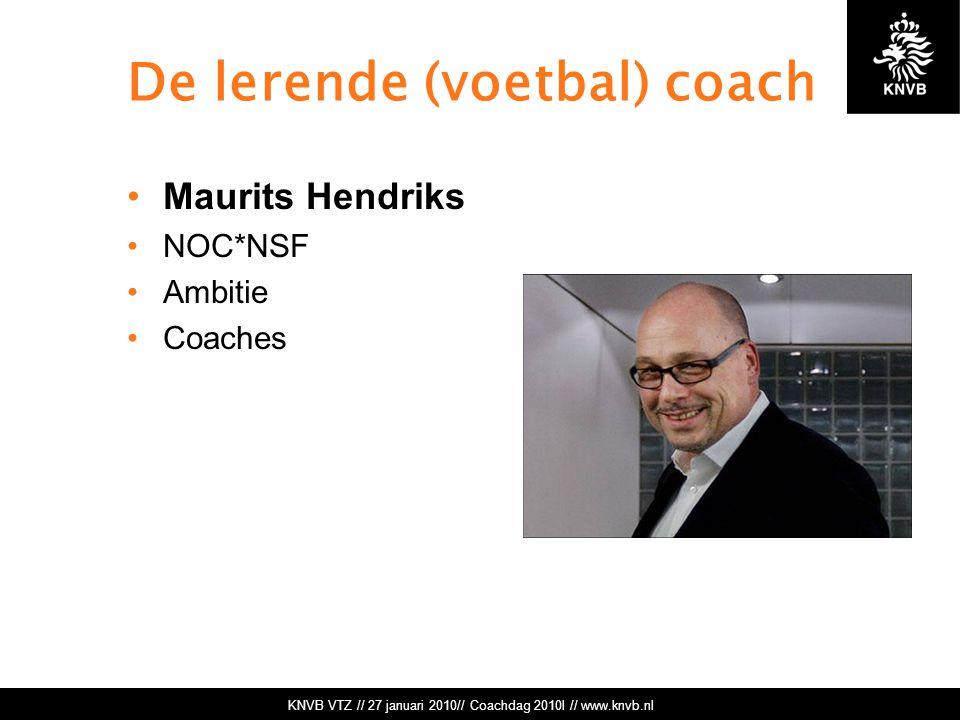 De lerende (voetbal) coach