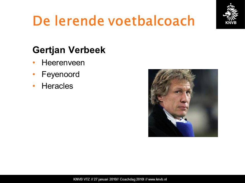 De lerende voetbalcoach
