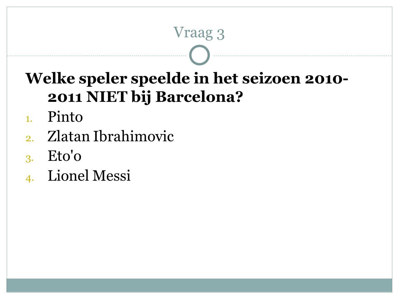 Welke speler speelde in het seizoen 2010- 2011 NIET bij Barcelona