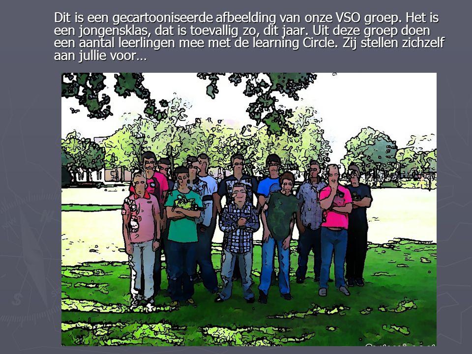 Dit is een gecartooniseerde afbeelding van onze VSO groep