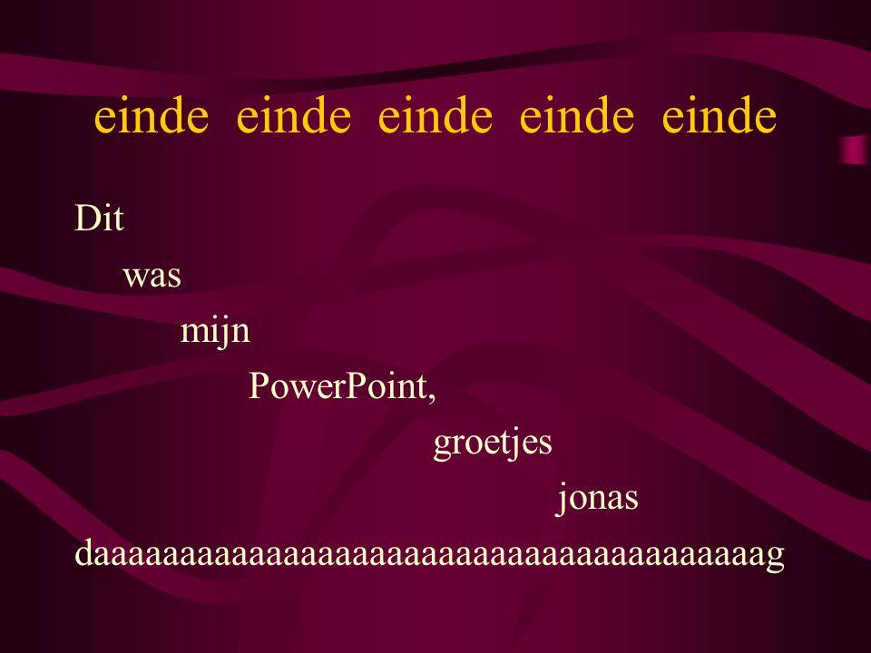 einde einde einde einde einde